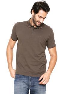 Camisa Polo Ellus Frisos Marrom
