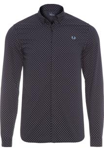 Camisa Masculina Polka Dot Shirt - Preto