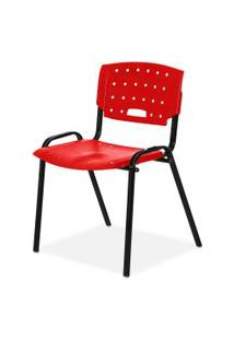 Cadeira Plastica Fit Vermelho Giobel