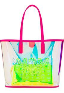 Mcm Bolsa Tote Com Logo - Roxo