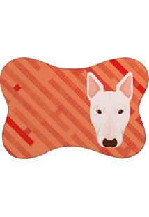 Tapete Mdecore Pet Bull Terrier Vermelho 46X33Cm