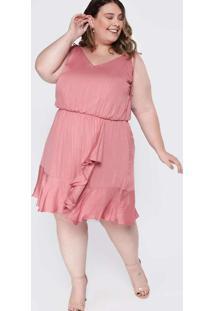 Vestido Almaria Plus Size Tal Qual Curto Blousê Vi