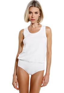 Body Le Lis Blanc Candy Ii Malha Off White Feminino (Off White, G)