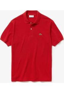 Camisa Polo Lacoste L.12.12 Original Fit Masculina - Masculino-Vermelho