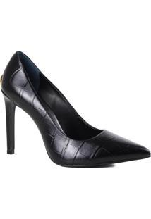 Sapato Feminino Scarpin Jorge Bischoff Salto Fino Croco