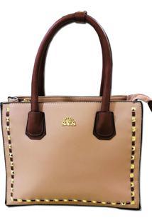 eb70faf95 ... Bolsa Casual Importada Transversal Sys Fashion 8505 Rosa Bege