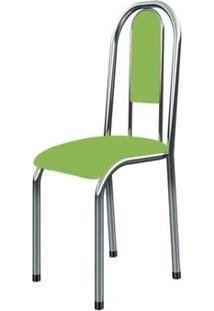 Cadeira Anatômica 0.122 Estofada Cromado/Verde - Marcheli