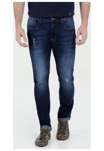 Calça Masculina Jeans Skinny Barra Dobrada Marisa