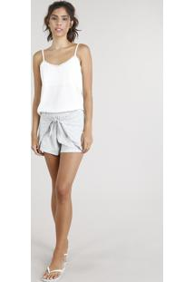 Short Doll Feminino Com Nó Off White