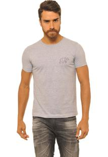 Camiseta Masculina Joss Logo Urso Preto Cinza