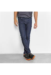 Calça Jeans Okdok Slim Fit Basic Masculina - Masculino-Azul Escuro