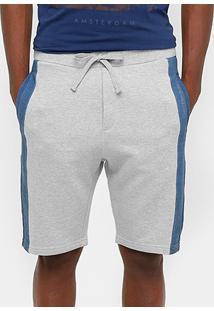 Bermuda Calvin Klein Moletom Bicolor Masculina - Masculino