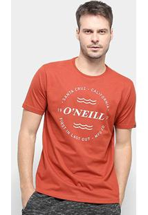Camiseta O'Neill Wind & Sea-4887B - Masculino-Vermelho