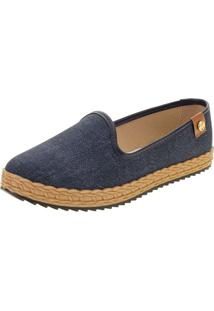 Sapatilha Feminina Moleca - 5696104 Jeans 34