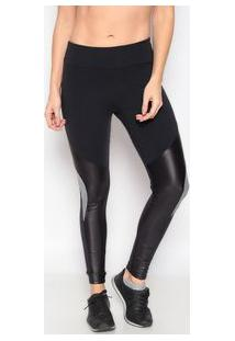 Body For Sure Legging Lisa Com Recortes Preta & Cinza