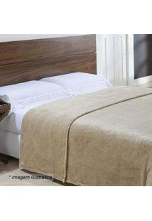 Cobertor Super King Size- Bege Escuro- 240X260Cmniazitex