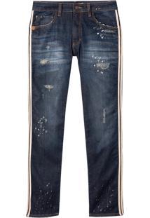 Calça John John Slim Floripa 3D Jeans Azul Masculina (Jeans Escuro, 42)