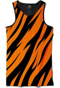... Camiseta Bsc Regata Tiger Stripe Sublimada Preto Laranja 76e18fb0da9