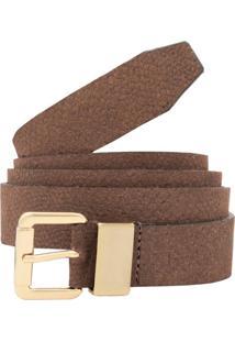 Cinto Corazzi Leather Deluxe Couro Camurça Terra