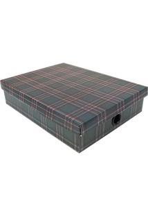 Caixa Organizadora Winter- Verde Escuro & Preta- 7X3Boxmania