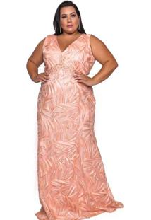 Vestido Almaria Plus Size Pianeta Laranja