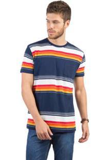 Camiseta Com Bolso Listrada Taco Masculina - Masculino