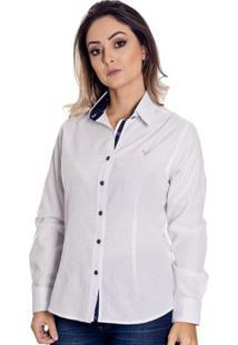 Camisa Pimenta Rosada Nalu - Feminino-Branco+Azul