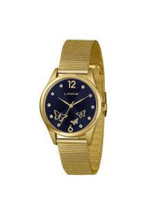 Kit Relógio Feminino Lince Lrgj105L-Km23D2Kx Analógico + Conjunto Semijóia   Lince   Azul   U