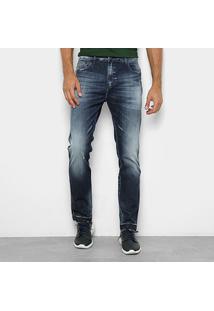 Calça Jeans Reta Ellus Estonada Cintura Média Masculina - Masculino