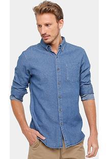 Camisa Jeans Broken Rules Maquinetado Masculina - Masculino