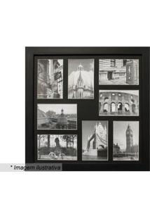 Painel Para 8 Fotos- Preto- 45X45X2Cmkapos