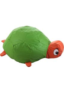 Puff Infantil Tartaruga Corino Colorido