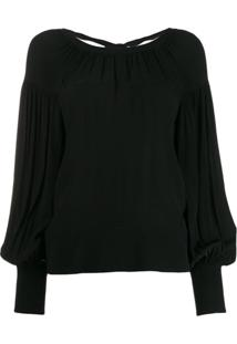 Proenza Schouler Blusa Com Recortes Vazados - Preto
