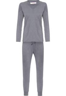 Pijama Feminino Annec - Cinza