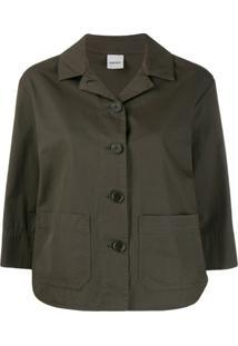 Aspesi 3/4 Sleeves Buttoned Jacket - Verde
