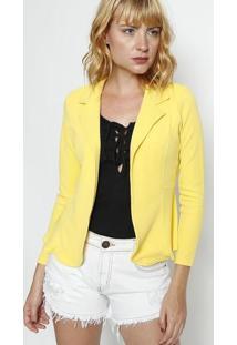 Blazer Texturizado- Amarelo- Dulce Colornolitta
