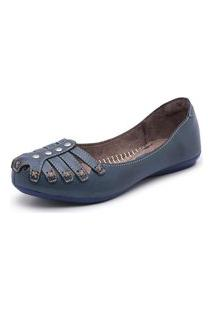 Sandalia Sapatilha Top Franca Shoes Marinho