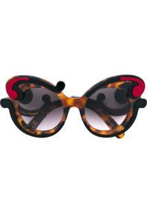 ... Prada Eyewear Óculos De Sol  Minimal Baroque  - Preto a99b5899a9