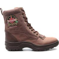 99d1aab557 Bota Coturno Couro Elite Country Webster Masculino - Masculino-Marrom