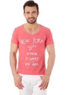 Camiseta 4Phun New York Coral