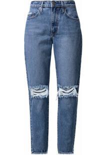 Nobody Denim Calça Jeans Com Efeito Destroyed - Azul