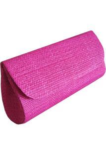 Clutch Bolsa Carteira De Mão Artestore Palha De Buriti Pink
