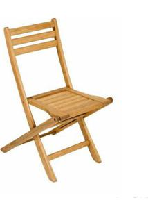 Cadeira De Madeira Dobrável Mestra Ipanema Stain Jatobá Butzke