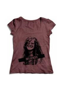 Camiseta Influencer Janis Joplin - Vinho