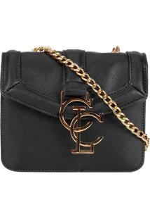 Bolsa Colcci Mini Bag Alça Corrente - Feminino-Preto