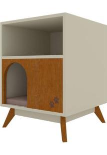 Mesa Cabeceira Pet Branco 60Cm - 55404 - Sun House