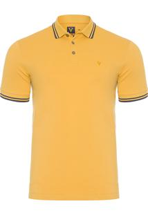 Polo Masculina Básica Friso - Amarelo