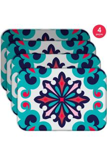 Jogo Americano Love Decor Wevans Mandala Color Kit Com 4 Pçs