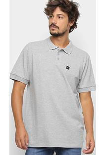 Camisa Polo Oakley Básica Patch 2.0 Masculina - Masculino-Cinza Claro