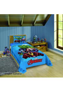 Jogo De Cama Avengers® Solteiro- Azul Claro & Vermelho